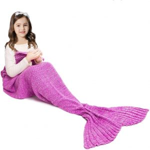 Jr.White Mermaid Tail Blanket