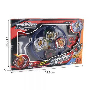 Topspeedgyro Bey Burst Starter Battling Top Fusion Metal Master Rapidity Fight With Two 4d Launcher Grip Set(4 In 1)