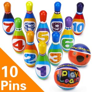iPlay, iLearn Kids Bowling Play Set, Foam Ball Toy
