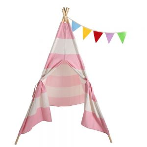 Lovinland Kids Play Tent Children Teepee Tent Small Play House Dome 120 x 120 x 150 cm Canvas and Wood