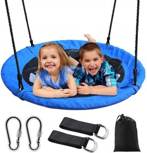 Saucer Tree Swing, Outdoor Nest Swing for Kids